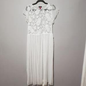See-Through White Dress